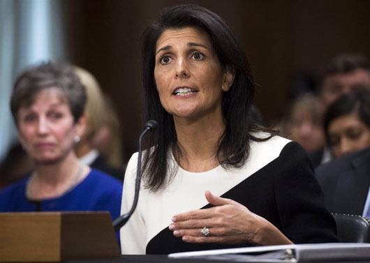 Haley presses UN to 'use its authority' to track Iran military, control Hizbullah