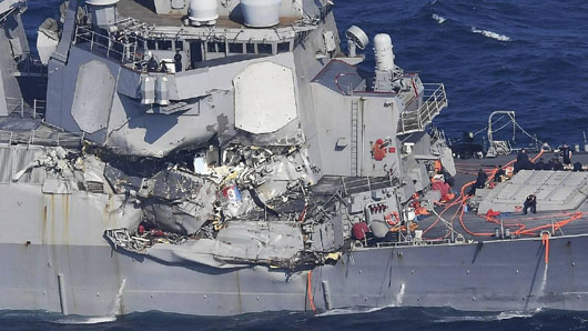 Chinese electronic warfare has not been ruled out in investigation of two U.S. naval collisions