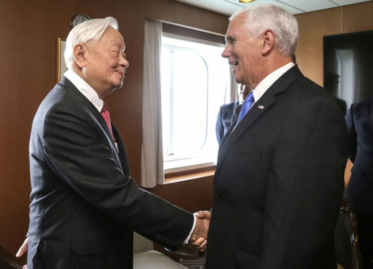 U.S. VP at APEC hits China policies, affords highest diplomatic recognition to Taiwan