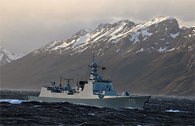 China's navy transits Strait of Magellan, conducts exercise with Chile