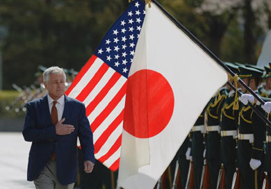 U.S. withdraws from Chinese fleet review to protest snub of Japan