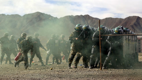 Largest-ever paramilitary games tied to unemployment, crackdown