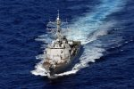 The guided missile destroyer USS Nitze.  /Alamy