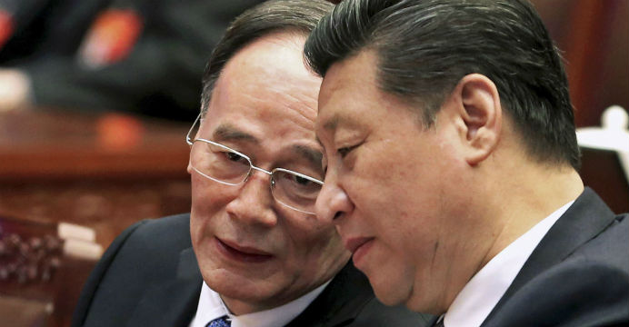 Xi tolerates relentless expansion of the politically correct Wang Qishan faction