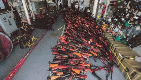 Arms seized off coast of Yemen appear to have been made in Iran