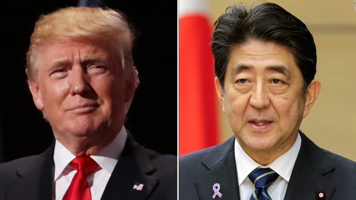 President Trump called Japan's PM Abe hours before meeting China's Xi