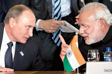 Putin counts on India's Modi to play major role in balancing China's clout