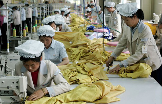 Made in North Korea clothing are labeled 'Made in China'; Business booming