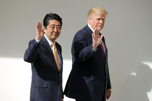 Japan's Abe relieved at Trump decision to rethink TPP relationship