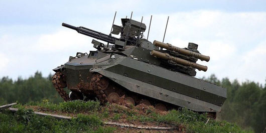Russia claims tests of 200 new weapons in Syria including Uran-9 drone tank