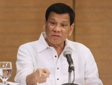 Philippine president threatens war with China over resources in South China Sea