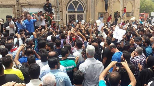 As U.S. increases pressure, Iran hit with nationwide protests over water, economy