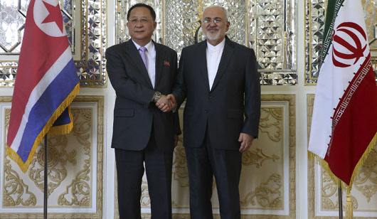 Sanctioned: North Korea's foreign minister was in Teheran on day U.S. renewed sanctions