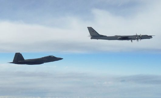 Russian nuclear bombers intercepted twice near Alaska during major Asian exercise