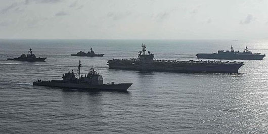 Navies of U.S. and Japan conduct largest exercise in South China Sea