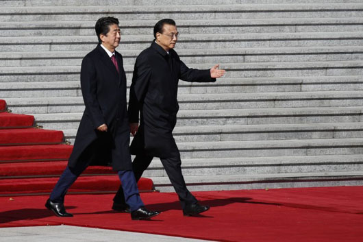 China suddenly cozies up to Japan; Abe coordinates with U.S. on rare state visit