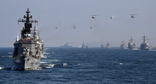 U.S., allies hold largest naval drill ever in waters adjacent to Japan