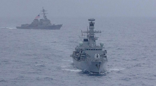 U.S.-UK mount rare joint naval exercise to challenge China