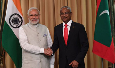 India's Modi counters Chinese influence in the Maldives