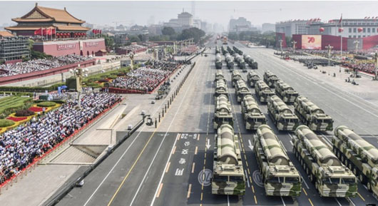 China's massive Oct. 1 parade appears geared for Taiwan action