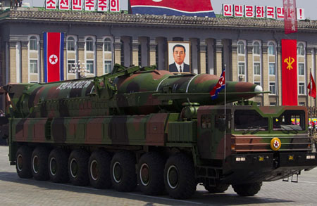 New missile launcher in China points to earlier transfers to North Korea