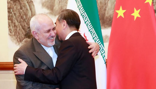 Great Satan, not: 'Iran stands with China'