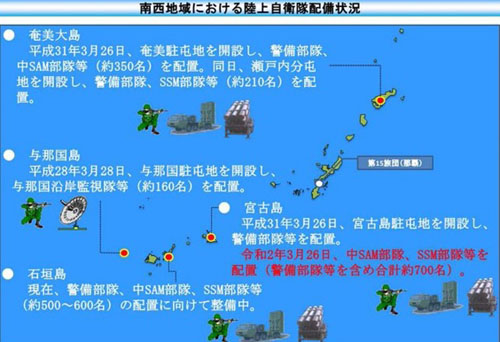 Japan deploys missiles in significant boost to defense of southern islands