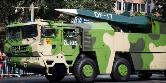 China's basing of DF-17 hypersonic missile could put Japan within range