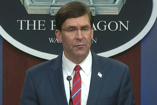 Trump administration's new hard line on China offset by Defense Sec. Esper
