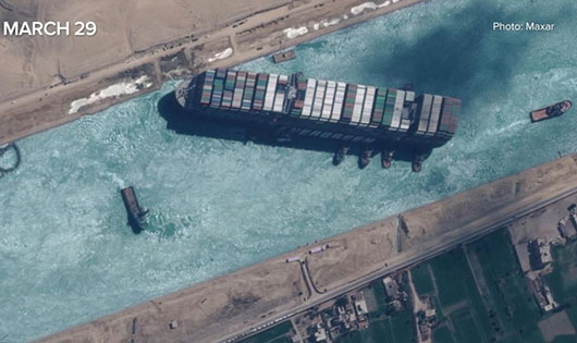 As Egypt eases out of U.S. orbit, its vulnerability is highlighted by Suez Canal closure