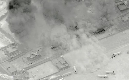 U.S. exchanges air strikes with pro-Iran groups