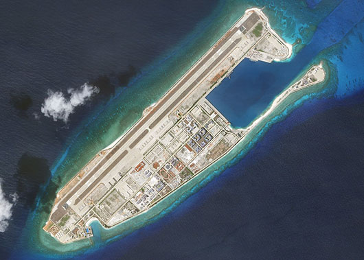 Satellite images show increases in China air operations from new island bases