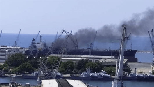Explosion reported on Iran ship in Syria as CIA's Burns arrives in Israel