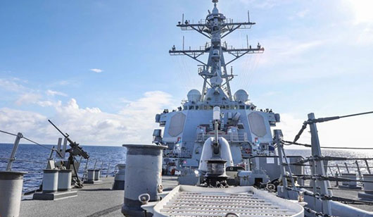 U.S. Navy challenges China's new maritime law, status of 'reefs' in South China Sea