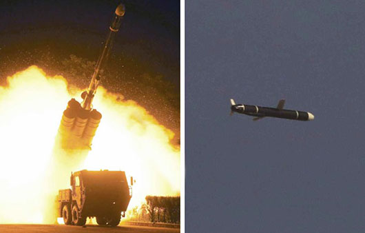 North Korea announces tests of land attack cruise missile